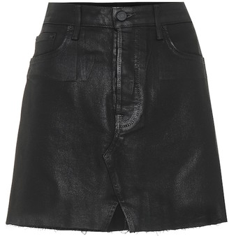GRLFRND The Milla coated denim miniskirt