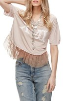 Free People Pretty in Punk Tulle Tee