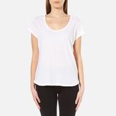 UGG Women's Betty Brushed Jersey Knit Short Sleeve T-Shirt - White
