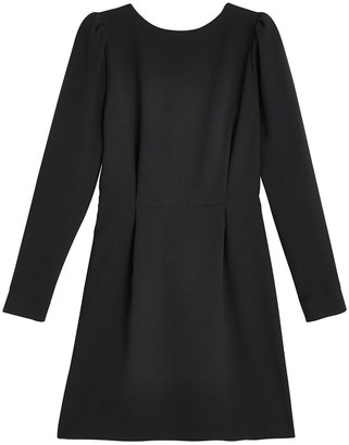 La Redoute Collections Long-Sleeved Dress with Crossover Back