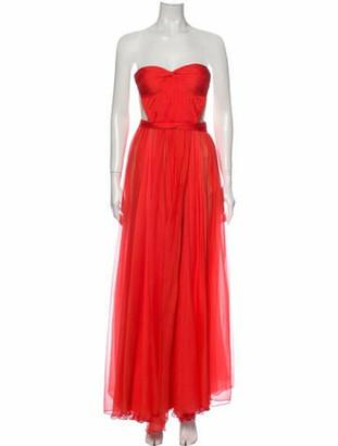 Maria Lucia Hohan Strapless Long Dress Orange