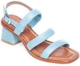 Bernardo Leather Mid-Heel Adjustable Sandals -Britney