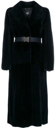 Fendi Wrap-Style Belted Coat