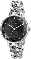 Stuhrling Original Women's 596.02 Vogue Genuine Diamond Chain Link Bracelet Watch