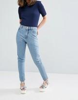Monki Kimomo Mid Blue Jeans