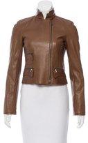 Akris Leather Moto Jacket