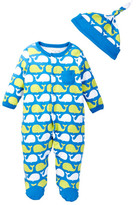 Offspring Whale Footie & Hat Set (Baby Boys)