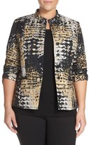 Lafayette 148 New York Plus Size Women's 'Tammy' Jacquard Jacket