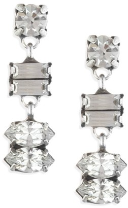 Dannijo Ellie Swarovski Crystal Drop Earrings
