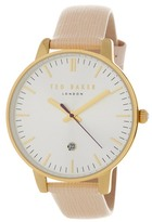 Ted Baker Women's Date Function Leather Strap Watch