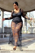 Forever 21 FOREVER 21+ Plus Size Sheer Lace Maxi Dress