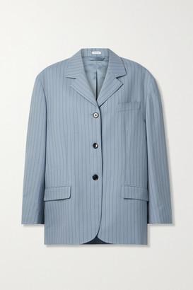 Acne Studios - Oversized Pinstriped Wool Blazer - Blue