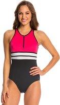 Fit 4 U Fit4U Color Blocks Hi Neck One Piece Swimsuit 8125222