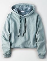 American Eagle Outfitters Don't Ask Why Boxy Crop Hoodie