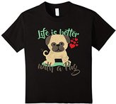 Men's Lifes Better With A Pug Tshirt XL