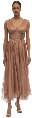 Maria Lucia Hohan Sorena Silk Muslin Midi Dress