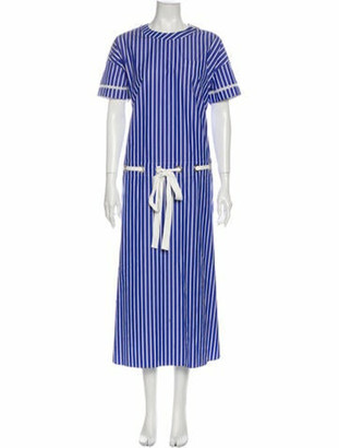 Sacai Striped Long Dress w/ Tags Blue