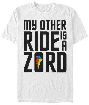 Fifth Sun Men's Power Rangers My Other Ride Is A Zord Short Sleeve T-Shirt