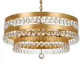 Crystorama Perla 6-Light Chandelier - Antiqued Gold