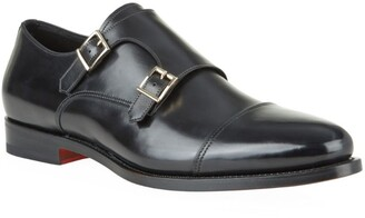 Santoni Wilson Double Strap Monk Shoes