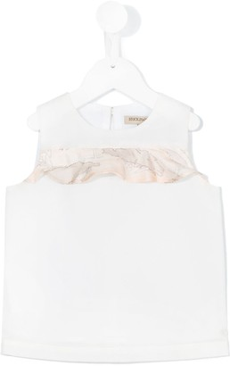 Hucklebones London Contrast Ruffle Shell Top