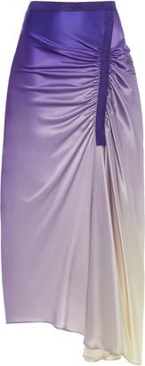 CHRISTOPHER ESBER Asymmetric Ombre Silk Skirt