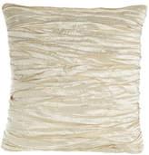 "Austin Horn Classics Charlotte Ruched Silk Pillow, 18""Sq."