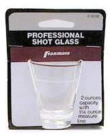 Franmara, Inc Shot Glass 2oz Carded, Ea, 04-0353 Bar Tools