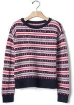 Gap Diamond fair isle sweater