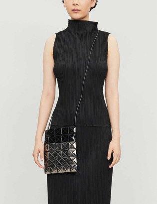 Pleats Please Issey Miyake Basic high-neck sleeveless pleated crepe top