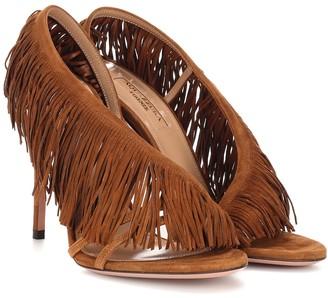Aquazzura Wild Fringe 105 suede sandals