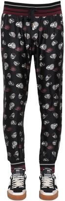 Dolce & Gabbana RING PRINT SILK TWILL JOGGING PANTS