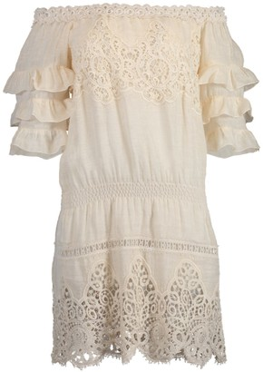Temptation Positano Cali Off Shoulder Ruffle Dress