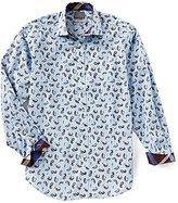 Thomas Dean Paisley Long-Sleeve Woven Shirt
