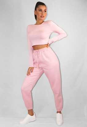 Missguided Pink Oversized 90'S Joggers