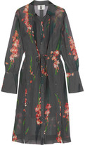 Topshop Selwyn Floral-Print Silk-Georgette Shirt Dress