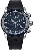 Edox Men's Co-1 45mm Black Rubber Band Swiss Quartz Watch 10221 3bu7 Buin7