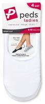 Peds Women's Sport Cut Liner 4-Pack - M