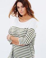 Basic Stripe 3/4 Sleeve Top