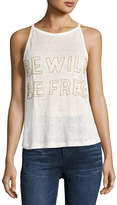 Chloe Oliver Be Wild Be Free Graphic Tank, White