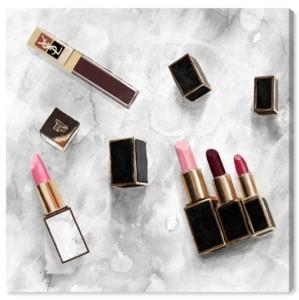 "Oliver Gal Classic Lipsticks Canvas Art - 20"" x 20"" x 1.5"""