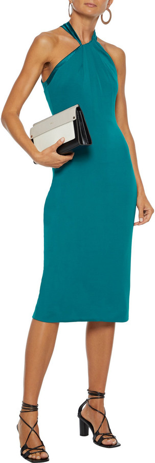 Thumbnail for your product : Cushnie Charmeuse-paneled Crepe-jersey Midi Dress