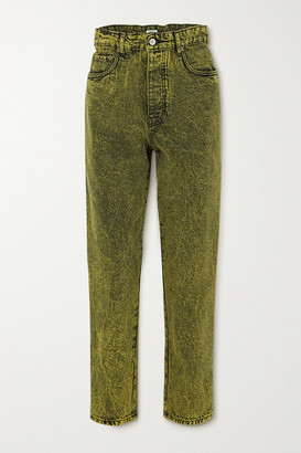 Miu Miu Acid-wash Denim Jeans - Green