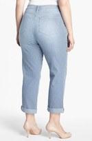 NYDJ 'Tanya' Railroad Stripe Boyfriend Jeans (Plus Size)