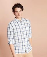 Brooks Brothers Plaid Linen-Blend Sport Shirt