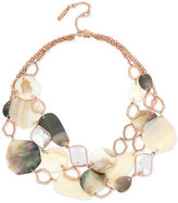 Kenneth Cole New York Rose Gold-Tone Multi-Shell & Stone Statement Necklace