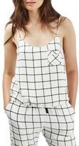 Topshop Women's Windowpane Check Pajama Cami