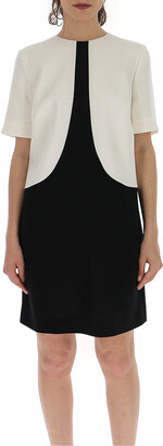 Givenchy Two-Tone Mini Shift Dress