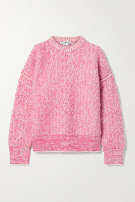 Acne Studios Melange Knitted Sweater - Pink