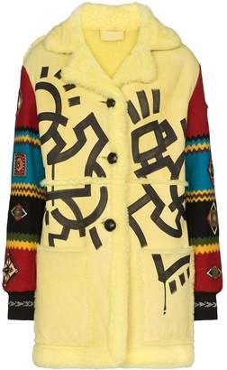 Duran Lantink Aztec Faux Shearling Coat
